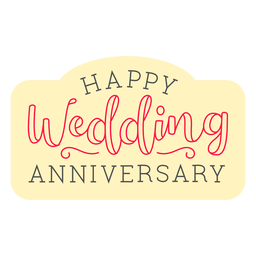 Happy wedding anniversary badge