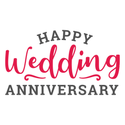 Happy wedding anniversary lettering marriage