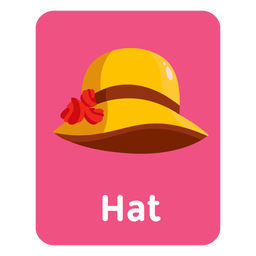 Hat vocabulary flashcard