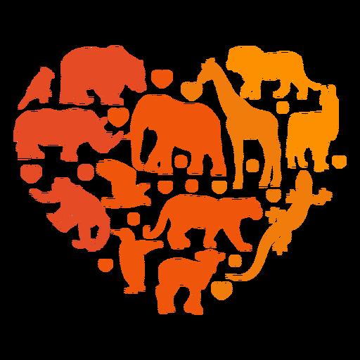 Corazón de animales Transparent PNG