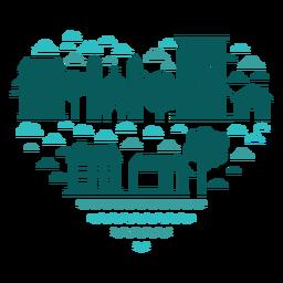 Corazón de edificios