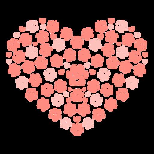 Corazón de huella de perro plana