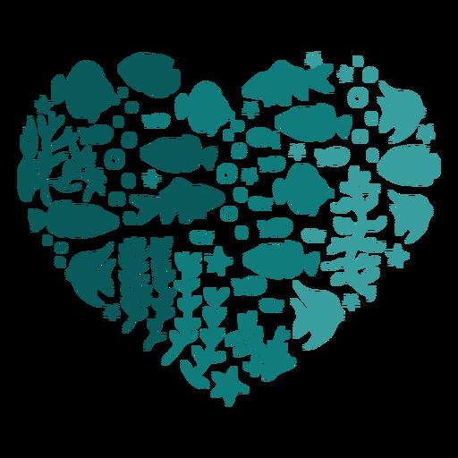 Corazón de pescado Transparent PNG