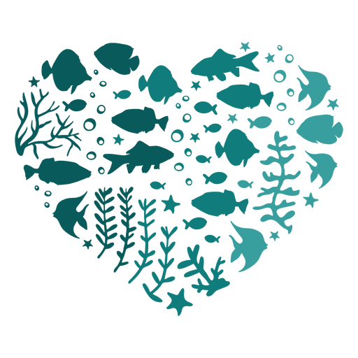 Heart of fish Transparent PNG