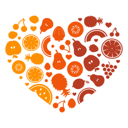 Corazón de frutas