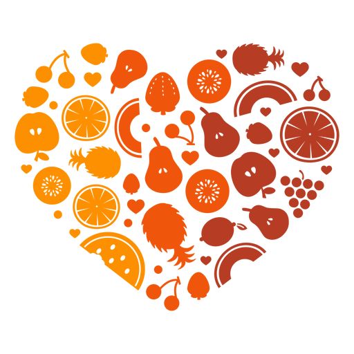 Heart of fruits Transparent PNG