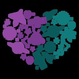 Elementos del corazón del espacio