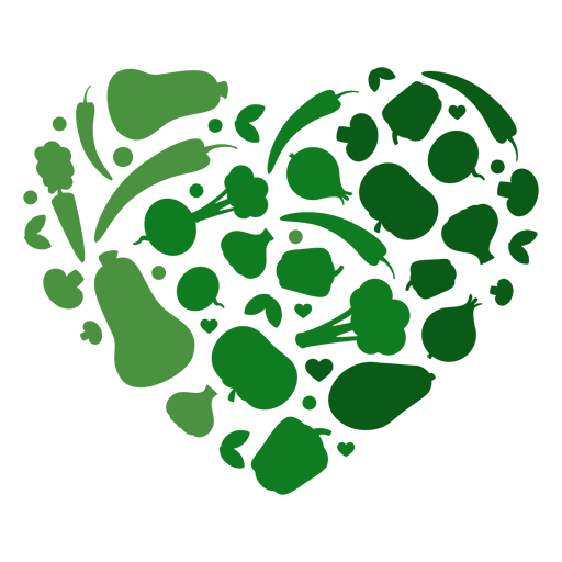 Heart of vegetables Transparent PNG