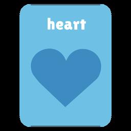 Cartão de forma de coração