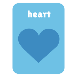 Heart shape flashcard