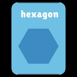 Hexagon shape flashcard
