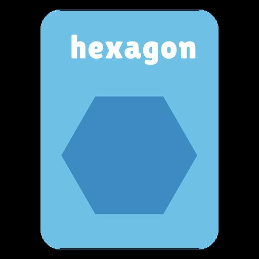 Tarjeta de forma hexagonal Transparent PNG