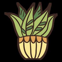 House plant yellow pot illustration