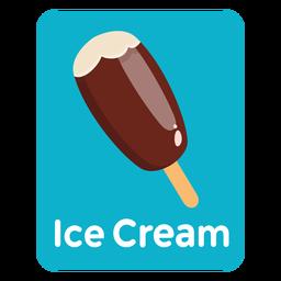 Tarjeta de vocabulario de helados