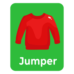Jumper vocabulário flashcard