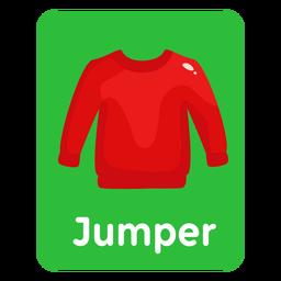 Tarjeta de vocabulario de saltador