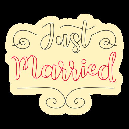Distintivo de recém casado