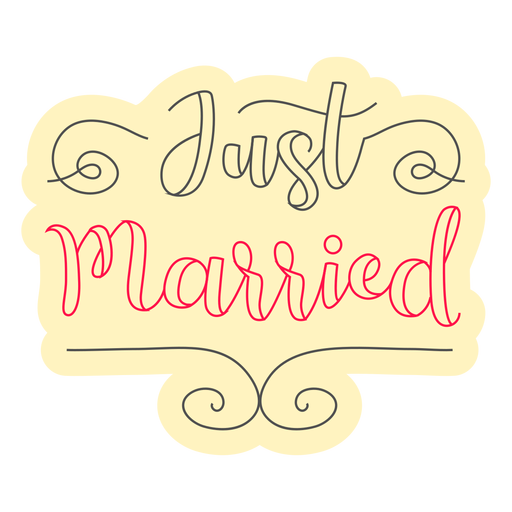 Just married badge