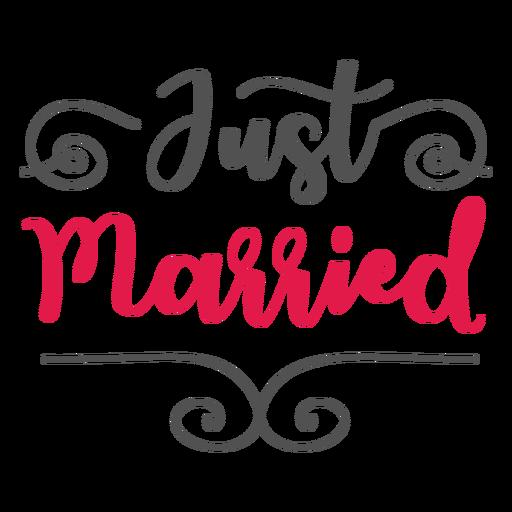 Gerade verheiratete Schrift