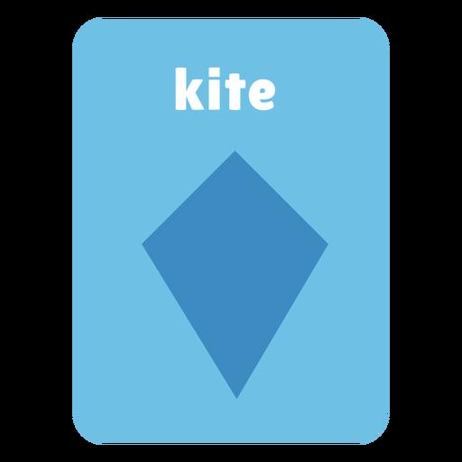 Kite shape flashcard