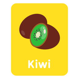 Kiwi vocabulary flashcard