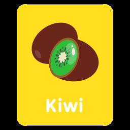 Tarjeta de vocabulario de kiwi