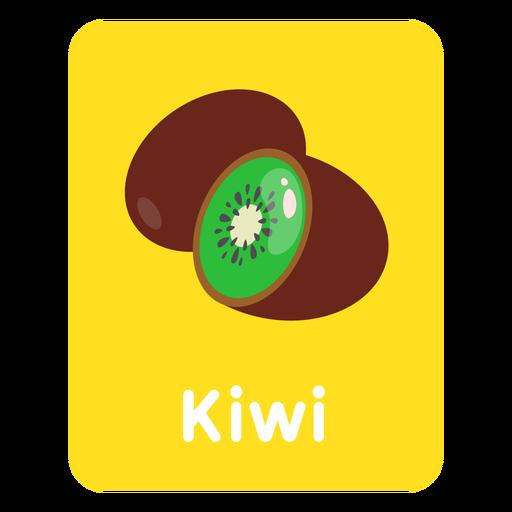Tarjeta de vocabulario de kiwi Transparent PNG