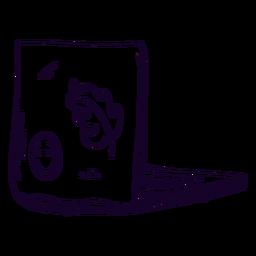 Doodle de pegatinas de computadora portátil
