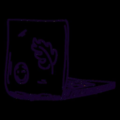 Laptop stickers doodle