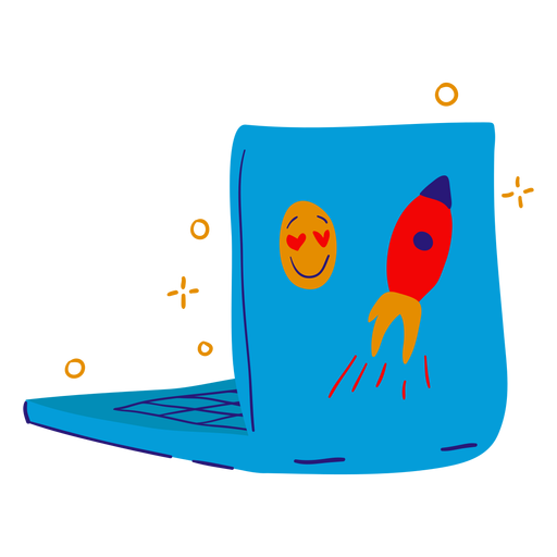 Laptop stickers flat