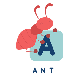 Letter a ant alphabet