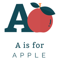Letter a apple alphabet