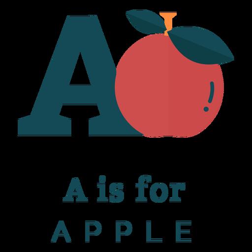 Letra de un alfabeto de manzana