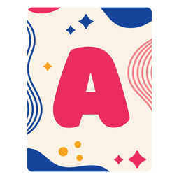 Letter a flashcard