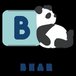 Letra b oso alfabeto