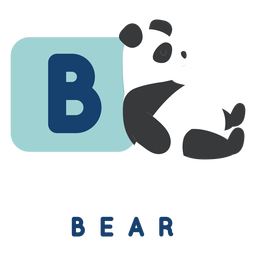 Letter b bear alphabet