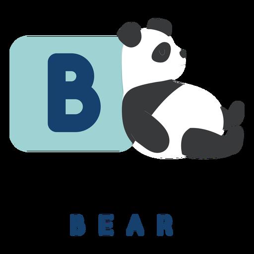 Alfabeto de letra b oso