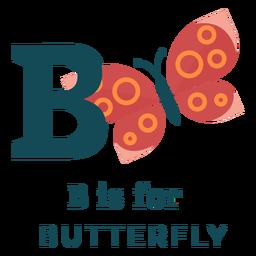 Letter b butterfly alphabet