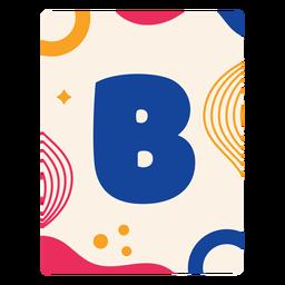 Letra b flashcard