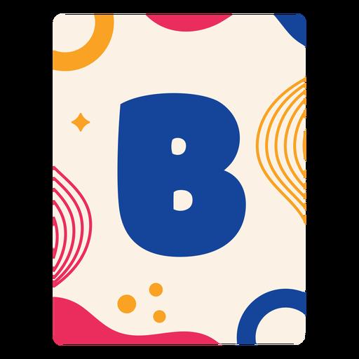 Letter b flashcard