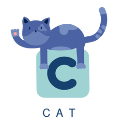 Alfabeto de letra c gato