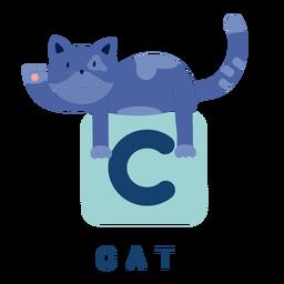 Letter c cat alphabet