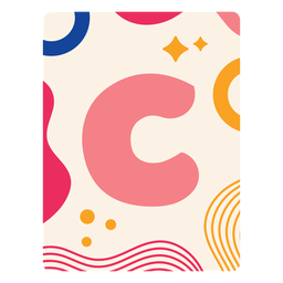 Letter c flashcard