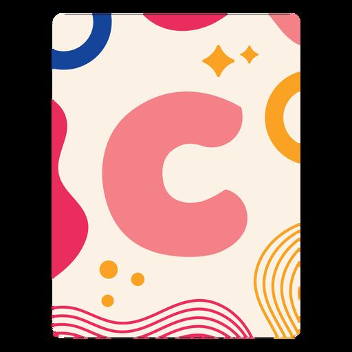 Letra c flashcard
