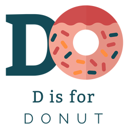 Alfabeto de letra d donut