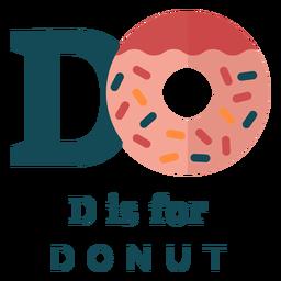 Alfabeto letra d donut