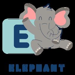 Letter e elephant alphabet