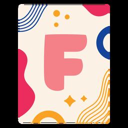 Letter f flashcard