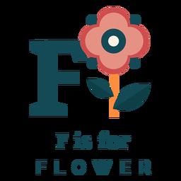 Alfabeto de flor letra f