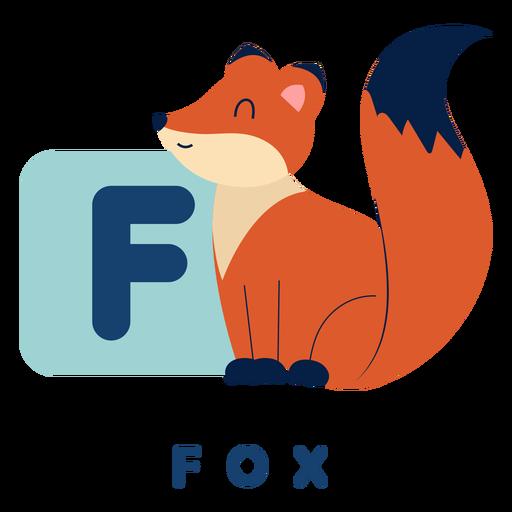 Letter f fox alphabet Transparent PNG